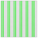 [ Thumbnail: Lime and Lavender Stripes/Lines Pattern Fabric ]