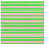 [ Thumbnail: Lime and Light Pink Pattern Fabric ]