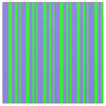 [ Thumbnail: Lime and Medium Slate Blue Colored Stripes Fabric ]
