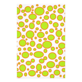 Lime and Orange Polka Dots Stationery