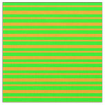 [ Thumbnail: Lime and Orange Stripes Pattern Fabric ]