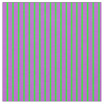 [ Thumbnail: Lime and Orchid Striped/Lined Pattern Fabric ]