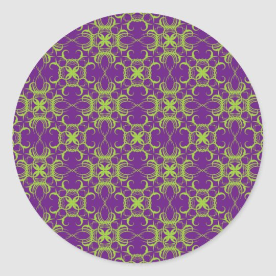 Lime And Purple Pattern Envelope Gift Stickers