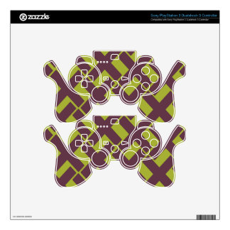 Lime and Purple Xs PS3 Controller Skin