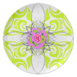 Lime and Rose Plate