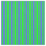 [ Thumbnail: Lime and Royal Blue Pattern of Stripes Fabric ]