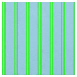[ Thumbnail: Lime and Sky Blue Pattern Fabric ]