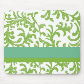 Lime and Teal Floral Pattern Mousepads