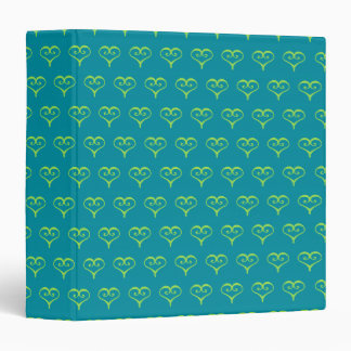 Lime and Turquoise Heart Scrapbook Binder