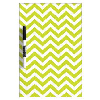 Lime and White Chevron Design Dry Erase Board