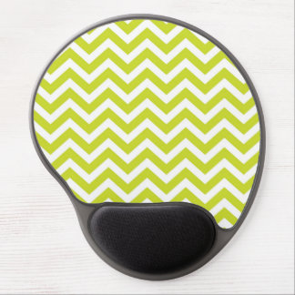 Lime and White Chevron Design Gel Mouse Pads
