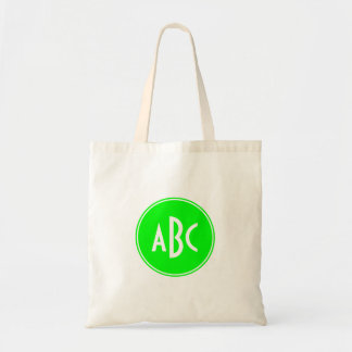 Lime and White Circle Monogram Canvas Bags