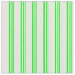 [ Thumbnail: Lime and White Colored Lines Pattern Fabric ]