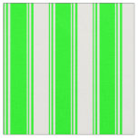 [ Thumbnail: Lime and White Colored Stripes Fabric ]
