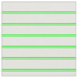 [ Thumbnail: Lime and White Colored Stripes Pattern Fabric ]