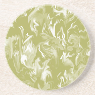 Lime and white -mixed design- C- Drink Coaster