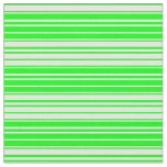[ Thumbnail: Lime and White Pattern of Stripes Fabric ]
