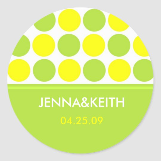 Lime and Yellow Polk-a-dot Stickers
