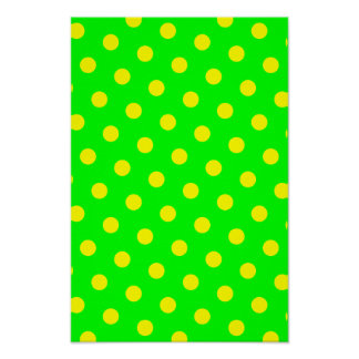 Lime and Yellow Polka Dots Poster