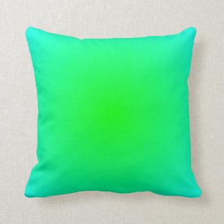 Lime Aqua Gradient Throw Pillow