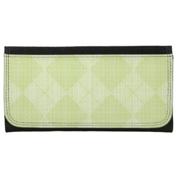 Beach Themed Lime-Argyle-Leather-Wallet-Lg Wallet For Women