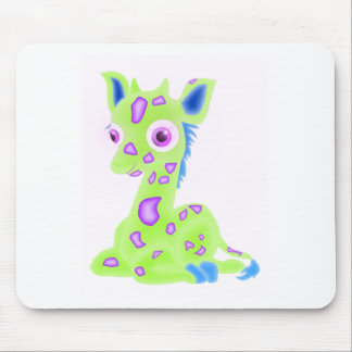 Lime Baby Giraffe Mouse Pad