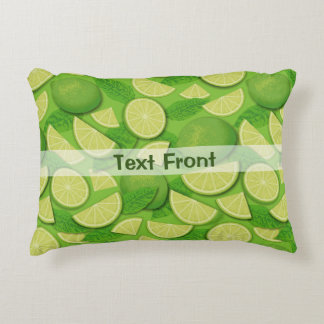 Lime Background Accent Pillow