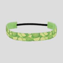 Lime Background Athletic Headband