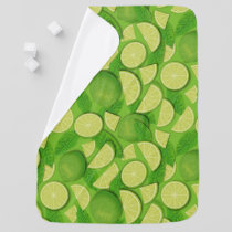 Lime Background Baby Blanket