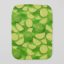 Lime Background Baby Burp Cloth