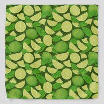 Lime Background Bandana