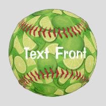 Lime Background Baseball