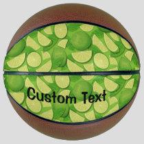Lime Background Basketball