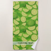 Lime Background Beach Towel