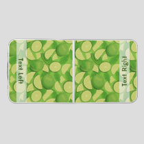 Lime Background Beer Pong Table