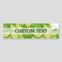 Lime Background Bumper Sticker