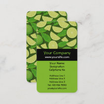 Lime Background Business Card