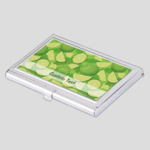 Lime Background Business Card Case