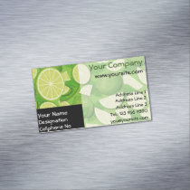 Lime Background Business Card Magnet