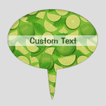 Lime Background Cake Topper