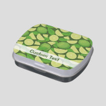 Lime Background Candy Tin