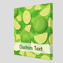 Lime Background Canvas Print