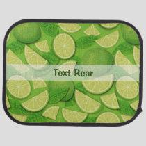 Lime Background Car Floor Mat