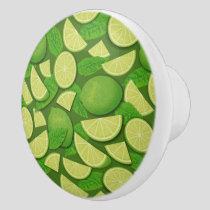 Lime Background Ceramic Knob
