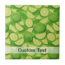 Lime Background Ceramic Tile