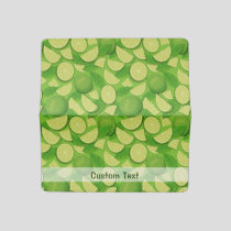 Lime Background Checkbook Cover