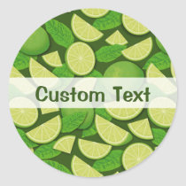 Lime Background Classic Round Sticker