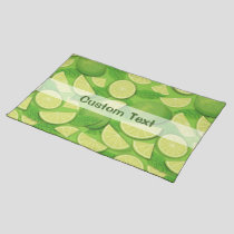 Lime Background Cloth Placemat