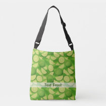 Lime Background Crossbody Bag