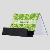 Lime Background Desk Business Card Holder